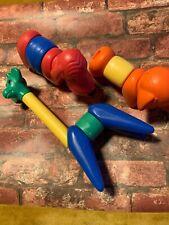 3 Zoo It Yourself Tupperware Toys Animals Retro Vintage Elephant Giraffe Dog