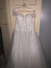 Wedding Dresses Bridal Ball Gowns Princess Off Shoulder Size L