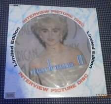 """RARE IMPORT MADONNA II PICTURE DISC INTERVIEW 1989 12""""VINYL RECORD LP LIMITED ED"""