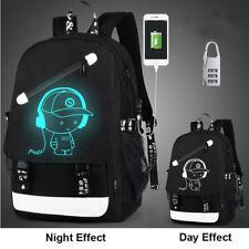Night Luminous Backpack Boys Girls Bookbag Cool School Bag Shoulder Bags