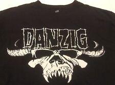 Vintage 2007 DANZIG logo concert tour black shirt Glenn The Misfits OFFICIAL M