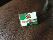VINTAGE KRONENBOURG LIGHT PIN BADGE