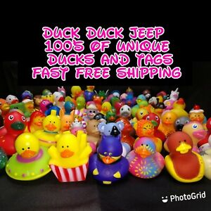 "Jeep rubber ducks 20 2"" ducks Random set with tags FREE bag duck duck jeep"