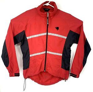 Endura Cycling Jacket Reflective Red Black Gray Medium