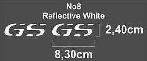 2 X BMW GS Logo Stickers Decal, R 1200 GS GSA 2004-2013 For Side Fuel Tank Cheek