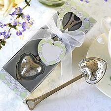 Heart Spoon Tea Infuser Filter Wedding Souvenir Bridal Shower Favor Gift Hot
