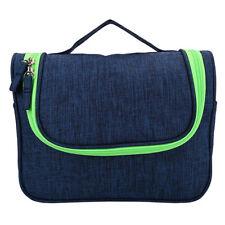 Travel Hanging Waterproof Cosmetic Toiletry Makeup Case Storage Organizer Bag Blue