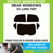Pre-Cut Window Tint - Ford Focus 5-door 2005-2010 - 5% Limo Black Rear Windows