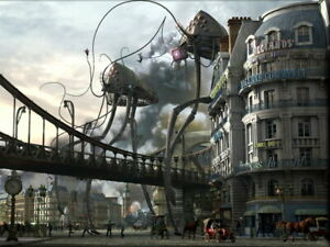 Reprint For War of the Worlds Steampunk Tripods Gigantic POSTER Decor Painting