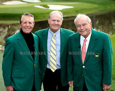 JACK NICKLAUS ARNOLD PALMER & GARY PLAYER MASTERS CHAMPIONS 8x10 PHOTO