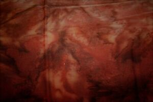 Rich Brown Tan Batik Cotton Quilt Fabric BTY 44 Inches wide BTY