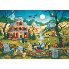 DANCING IN THE MOONLIGHT Bonnie White MasterPieces 500 pc HALLOWEEN puzzle - NEW