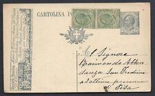 STORIA POSTALE Regno 1920 Intero Postale 15c Profumi Treves ANNULLATO (FM6)