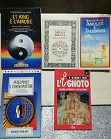Lotto 5 libri Sock KING  MAGIA BIANCA AMULETI TALISMANI SVILUPPARE POTERI IGNOTO