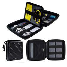 1PC Black Protable Hard Eva Zipper Storage Box Travel Organiser USB Case