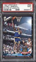 Latrell Sprewell 1992 Upper Deck Basketball Rookie Standouts # RS5 RC PSA 9 Mint