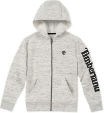 Timberland Big Boys' Long Sleeve Fleece Hoodie (Grey/White Space, L TLFBB014136