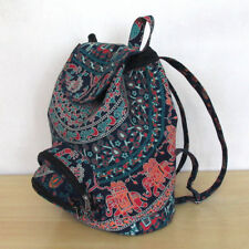 New Indian Unisex Backpack Bag Indian Cotton Hippie Multi Fashion Street Bags