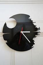 Star Wars, Dead Star design wall clock, made from black plexiglass [ D-3 ]