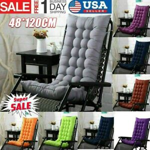 Soft Lounger Cushion Recliner Rocking Chair Pad Home Garden Removable Seat Cover