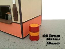 1/18-Pair (2) of Oil Drums for your shop/garage/diorama - American Diorama