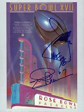 JOE GIBBS & JOE THEISMANN Signed Autographed Super Bowl XVII Program, JSA