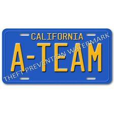 The A-Team Gmc Van Hannibal Face Murdock Mr T A-Team Aluminum License Plate