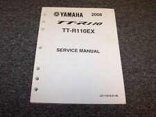 2008 Yamaha TTR110EX TTR110 Motorcycle Dirt Bike Shop Service Repair Manual