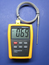 Digital K-Type Thermometer w High Temperature Stainless Steel Sensor Probe 68HT2