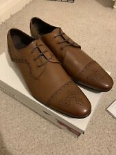 Office Shoes Men's Tan Fox Brogue Toe Cap Leather Office.co.uk UK 10 E 44 Snug9?