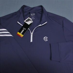 ADIDAS CLIMALITE POLY SPANDEX 1/4 ZIP GOLF PULLOVER--L-LOGOS--UNWORN!--NEW!!TAGS
