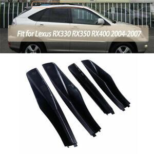 For 2004-2007 Lexus RX330 RX350 Roof Rack Cover Rail End Cap Shell Black Trim