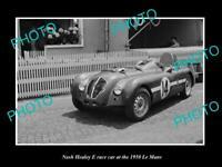 OLD 8x6 HISTORIC PHOTO OF NASH HEALEY E RACE CAR AT LE MANS 1950