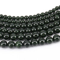 """15"""" Natural  Green Sand Stone Gemstone Round Loose Beads Jewelry Finding 4-10mm"""