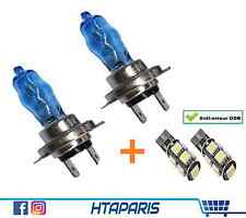 Halogene Ampoule H7 Effet Xenon 6000K 55W / 2 LED W5W 9 SMD Anti Erreur ODB 5050