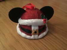 DISNEY PARKS MICKEY MOUSE SANTA FATHER CHRISTMAS SUIT EAR HAT USA IMPORT, BNWTS