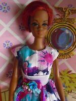 Vintage Black AA Nurse Julia Barbie Doll w/Amazing OOAK Fashion! EUC!