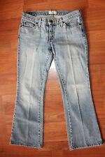 WOMENS AMERICAN EAGLE 2 PETITE 2P PET HIPSTER DENIM JEANS BOOT CUT FLARE EUC