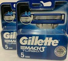 Gillette Mach3 Turbo Rasierklingen für Männer ( 2 x 5er PACK ) )   NEU & OVP