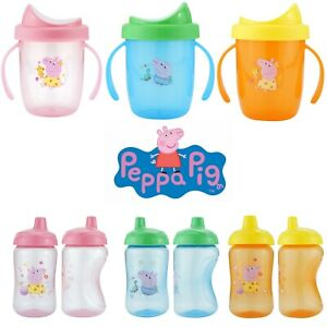 Peppa Pig Non Spill Toddler Beaker,Twin Handle Cup,Sippy Cup Non Toxic BPA Free