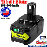 5.0Ah 18 VOLT P108 for 18V RYOBI ONE PLUS Lithium-Ion High Capacity Battery NEW