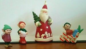 Hallmark merry miniature joy elf elves St Nick Santa 2006 lot