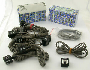 NIKON TTL flash Blitz Kabel cable set analog SC-17 SC-18 AS-10 lesen read /20