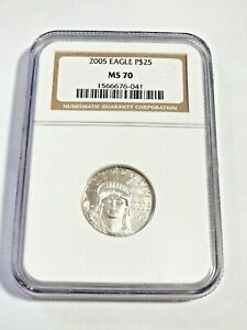 2005 Platinum Statue Of Liberty Eagle P$25 1/4 Oz NGC MS 70 Perfect Coin