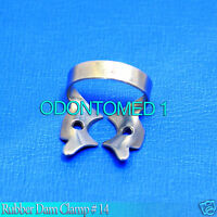 6 Endodontic Rubber Dam Clamp # 14 Surgical Dental Instruments