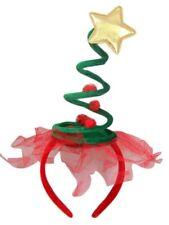 Christmas Tree Spring Spiral Holiday Party Headband