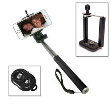 Selfie Stange Stick Teleskop Stab Monopod iOS Android Fernbedienung Schwarz