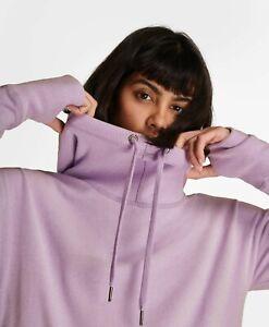 BNWT Sweaty Betty Escape Luxe Fleece Hoody RRP £120.00 Medium Astor Purple