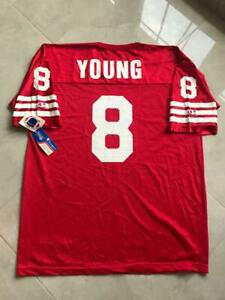 SAN FRANCISCO 49ERS NFL VINTAGE FOOTBALL SHIRT JERSEY CHAMPION YOUNG #8 NEW (52)