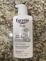 Eucerin Baby Wash and Shampoo 2-in-1 Tear Free Formula Hypoallergenic 13.5oz